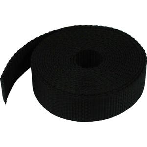"1"" Heavy Duty Black Webbing Strap"