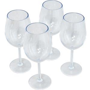 4 Piece Stemmed Wine Glass Set