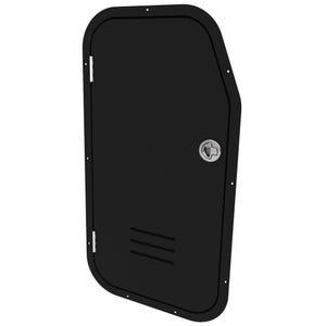 Tidewater Black Acrylic Side Console Door