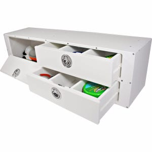 2 Drawer Leaning Post Tackle Unit with Catch-All