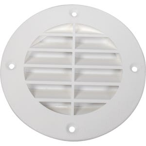 Round Louvered Vent for Pontoons - Fish White