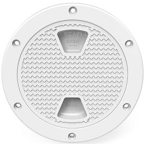 "6"" Screw-In Deck Plate -White"