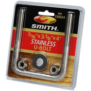 "Stainless U-bolt pack 7/16"" x 3-1/8"" x 4"""