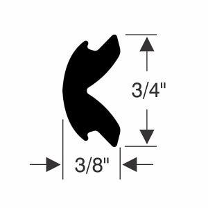 """3/4"""" x 3/8"""" Rub Rail Flexible Insert Kit"""
