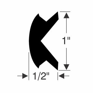"""1"""" x 1/2"""" Rub Rail Flexible Insert Kit"""