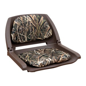 Camo Padded Plastic Fold Down Seat