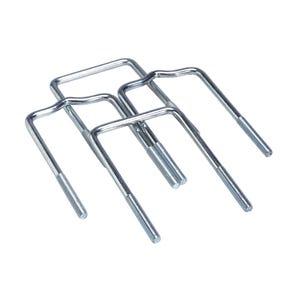 "Zinc U-bolt Pack 3/8"" x 3-1/2"" x 6"