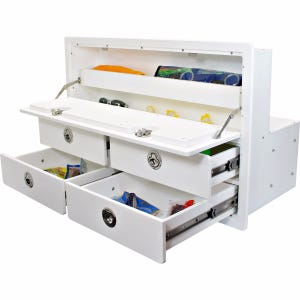 4 Drawer Unit with Dual Storage Areas