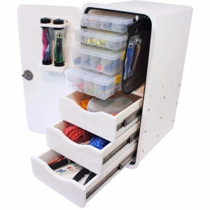4 Tray, 3 Drawer Leaning Post Tackle Unit