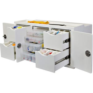 4 Tray, 4 Drawer Free Standing Tackle Station