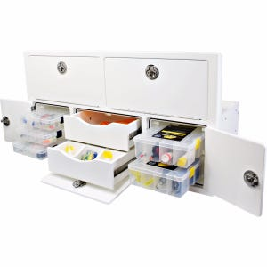 5 Tray, 2 Drawer Leaning Post Tackle Unit