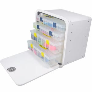 Aluminum Framed 4 Tray Tackle Box