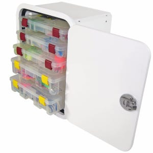 Aluminum Framed 5 Tray Tackle Box
