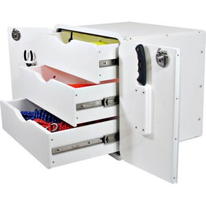 Aluminum Framed Three Drawer Storage Unit