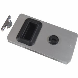 "Aluminum Sliding Cabin Door Latch 5.625"" x 2.875"""