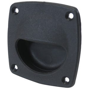 "Black Flush Pull Handle 3"" x 3"""