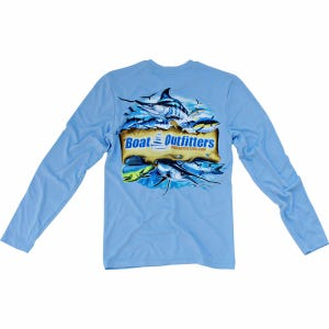 Blue Dri-Fit Long Sleeve Shirt