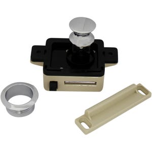 Cabinet Push Button Latch Chrome
