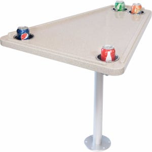 Corian Bow Table with Base