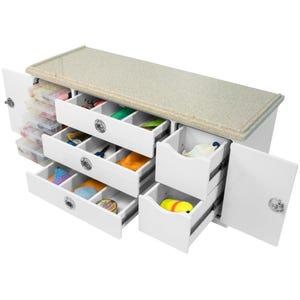 Corian Top Acrylic Tackle Storage Unit