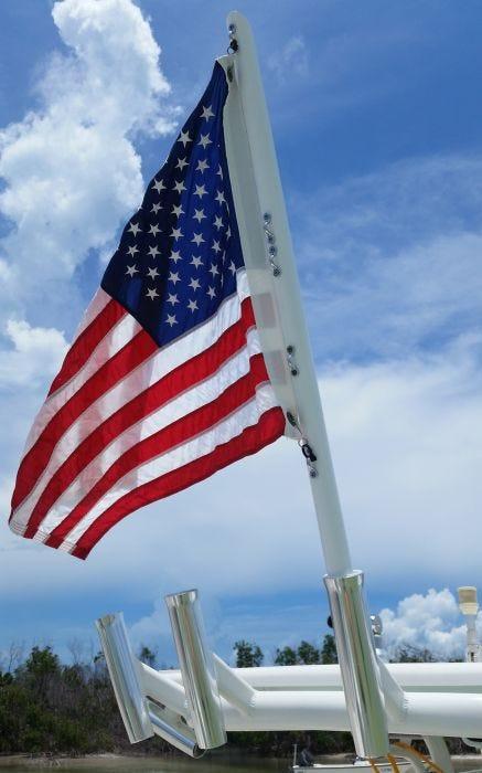 Boat Rod Holder Flag Flyer with US Flag