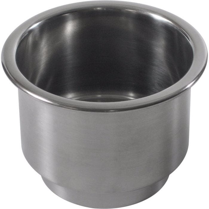steped Stainless Steel Drop-In boat Cup Holder w// Drain