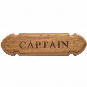 Teak Captain Sign