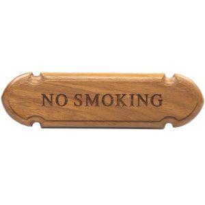 Teak No Smoking Sign
