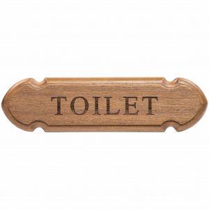 Teak Toilet Sign for Boats