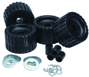 Black Ribbed Roller Kit