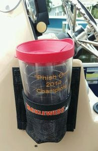 Adhesive Backed Mesh Cup Holder