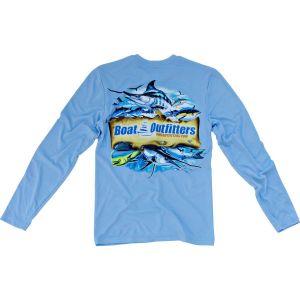 Blue Dri-Fit Long Sleeve Shirt