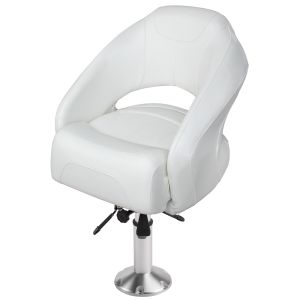 """Bolster Bucket Seat with Air-Powered Adjustable Height Pedestal (Mainstay 2 3/8"""" Pedestal)"""