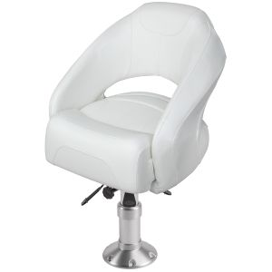 """Bolster Bucket Seat with Air-Powered Adjustable Height Pedestal (Mainstay 2 7/8"""" Pedestal)"""