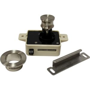 Cabinet Push Button Latch Brushed Nickel