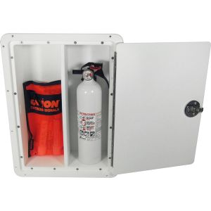 Double Fire Extinguisher Storage Box