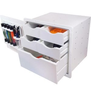 Drawer Storage Unit - 5 Drawer and Tubes