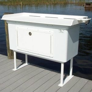 Fish Cleaning Station with Fiberglass Cabinet
