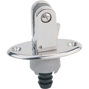 Flush Mount Bimini Top Hinge with Drain