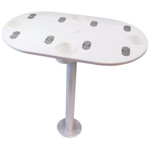 Folding Starboard Table with Pedestal