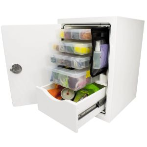 Free Standing Single Drawer Storage Unit with Tackle Storage