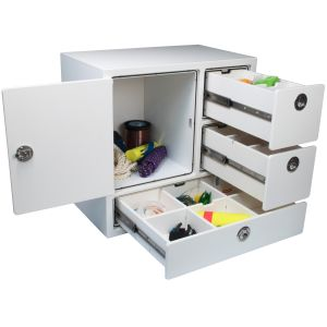 Free Standing Tackle Unit 3 Drawer with Dividers