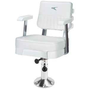 Ladder Back Helm Chair with Adjustable Pedestal and Seat Mount