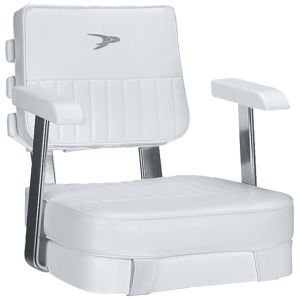 Ladder Back Helm Chair with Cushions and Mounting Plate