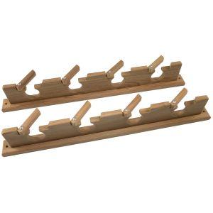 Teak Lock In Four Rod Storage Rack