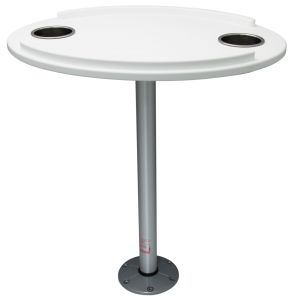 Oval Table with 2 Drink Holders and Keeper