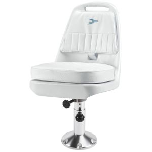 Pilot Chair with Adjustable Pedestal and Seat Mount