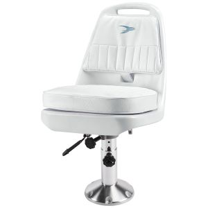 Pilot Chair with Adjustable Pedestal and Seat Slide