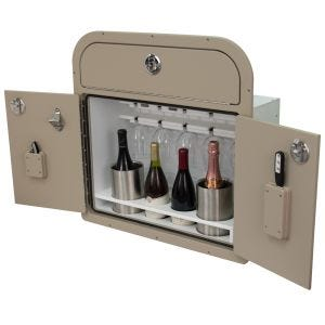Pontoon Lounge Backrest Wine Storage Cabinet