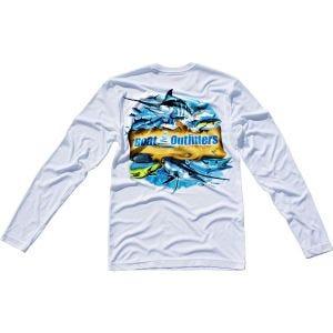 White Dri-Fit Long Sleeve Shirt